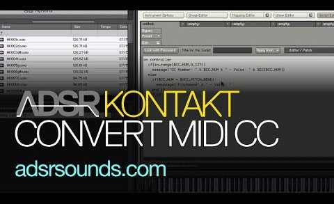 Convert Midi Control Change To Note Numbers