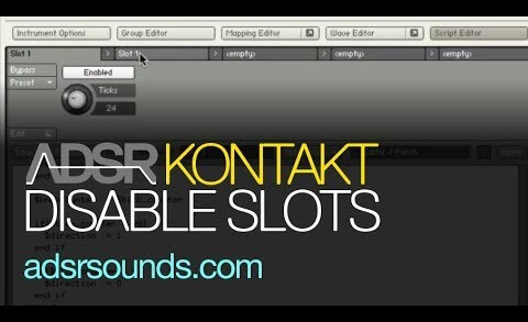 Creative Ways To Disable Script Slots In Kontakt