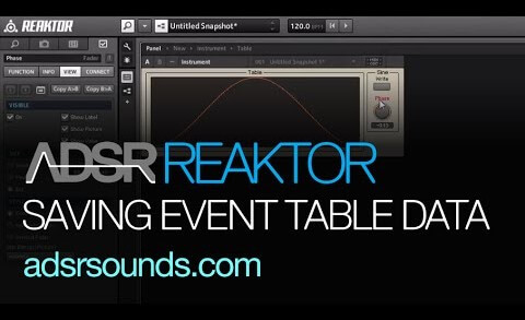 Saving Event Tables in Reaktor