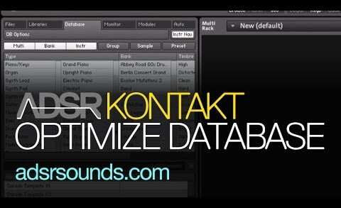 Tips on Using and Optimizing The Database In Kontakt