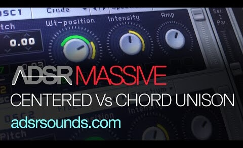Centered Vs Chord Unison Control In Massive