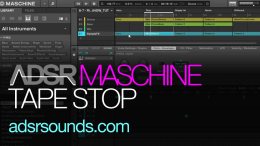 Tape stop effect with Maschine