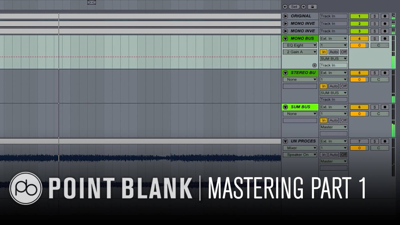 Mastering in Ableton Live Part 1: Creating a Mid/Side Matrix