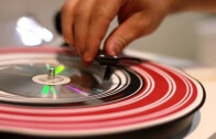 This lathe-cut CD can be played on a turntable