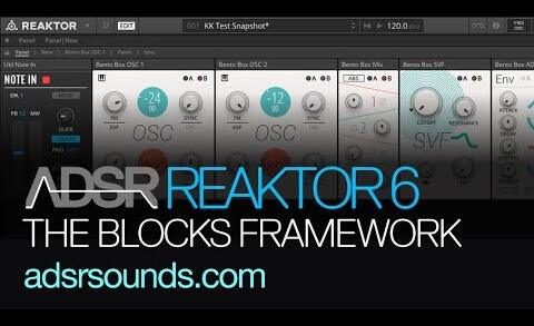 Introduction to the Blocks Framework – Reaktor 6 Blocks