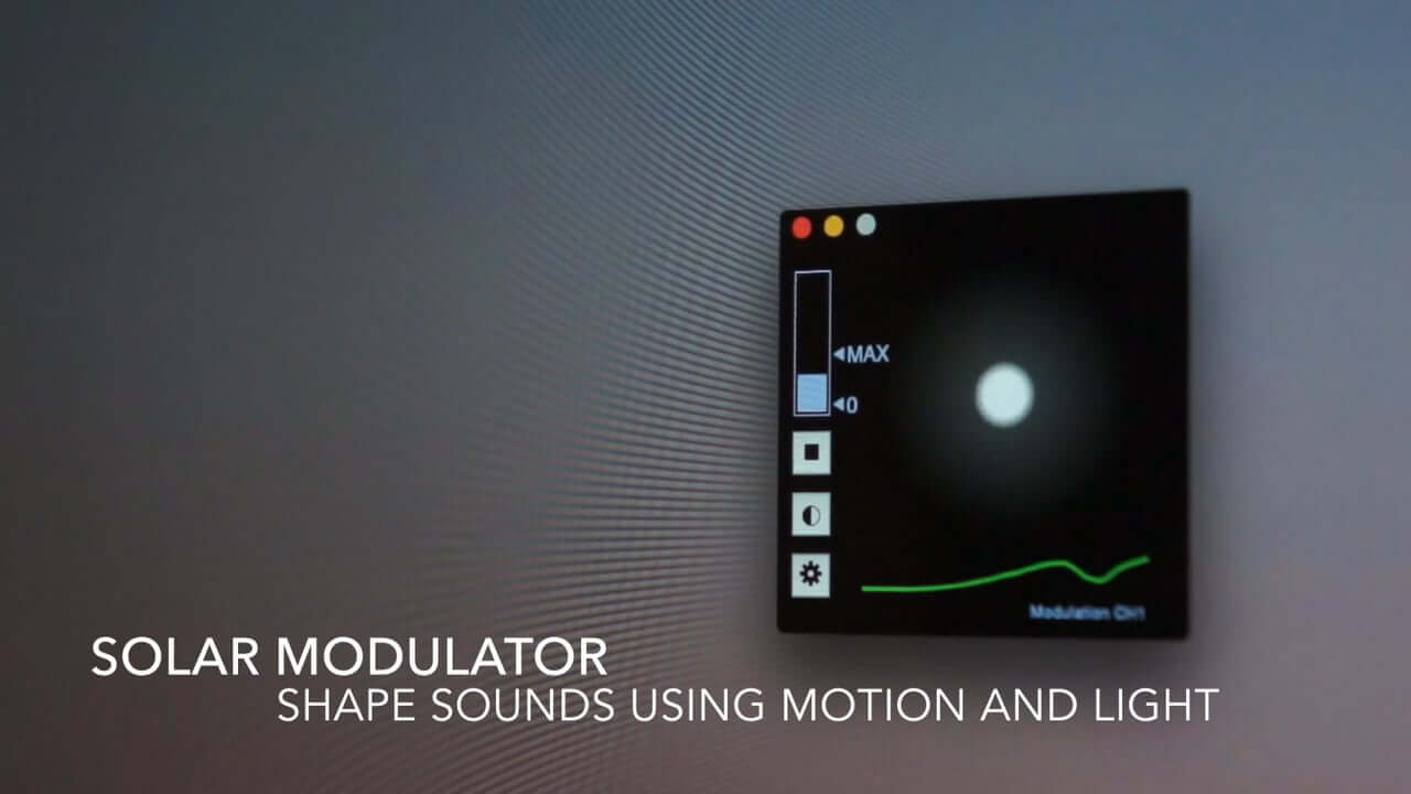 Shape your sounds using light and motion