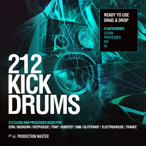 Production Master 212 Kick drums vol. 1
