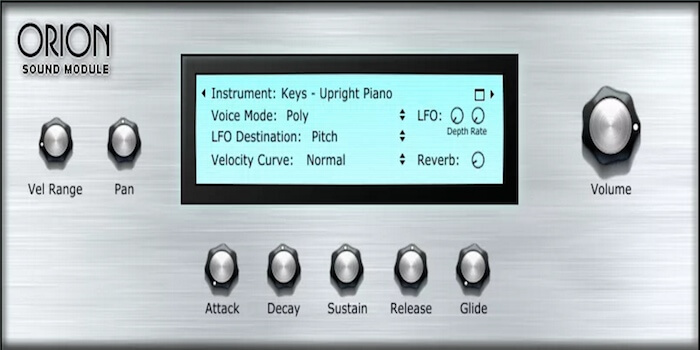 Virtual Instrument Library: Orion Sound Module