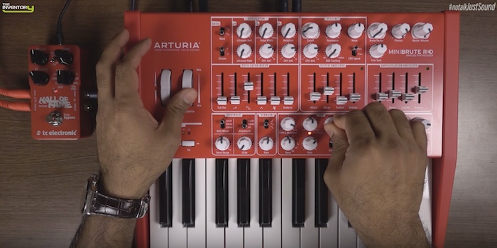 Sound Demo Of The Arturia MiniBrute Red