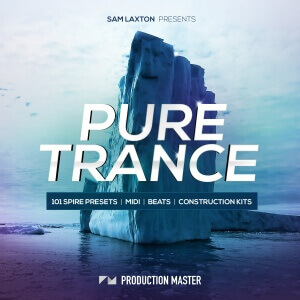 Sam Laxton presents Pure Trance (101 Spire presets, loops, midi and samples) - ARTWORK