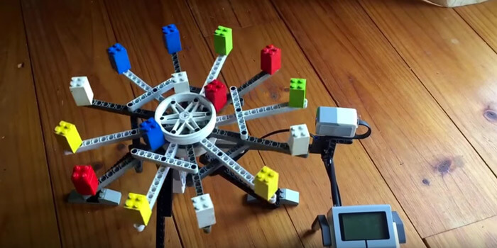 Making Beats With A LEGO Rotary Step Sequencer