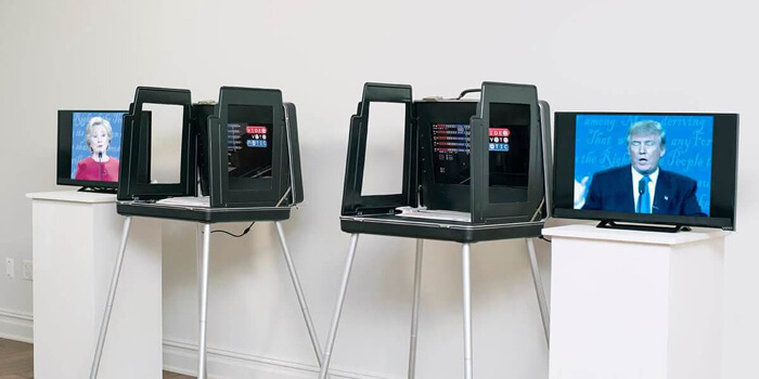 Voting Booth Turned Into A Beat Machine