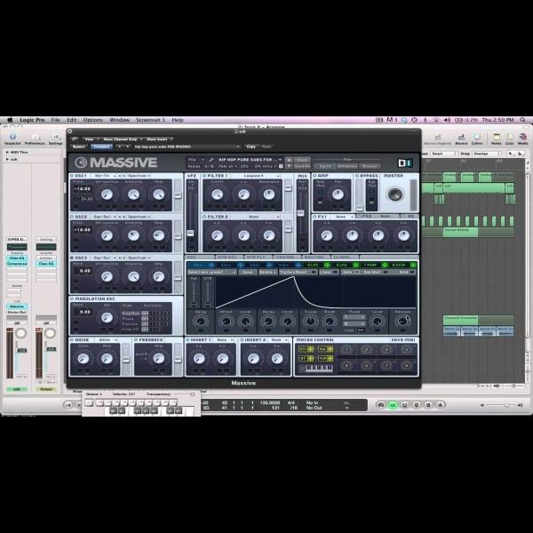 Making an NI Massive 808 Kick Drum – ADSR