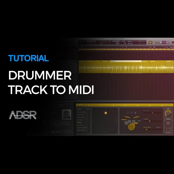 Drummer Track to MIDI in Logic Pro X – ADSR